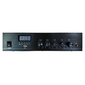 Leco Audio small commercial mixing amplifier SCAB front view