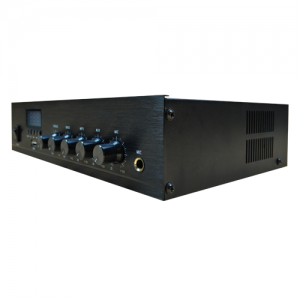Leco Audio small commercial mixing amplifier SCAB side view